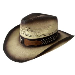 Jacaru 1859 Kile Straw Paper Cowboy Cowgirl Hat Beach Country Outback Farm