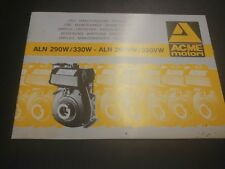Acme Argentina 290w/330w manual del usuario lista de piezas de repuesto