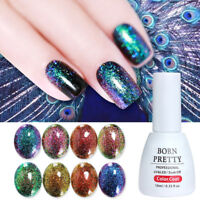 6ml BORN PRETTY Nail UV Gel Polish Peacock Chameleon Holographic Soak Off Gel