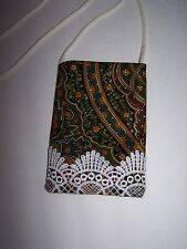 Pouch / Crossover Phone case Small Multi-Color Floral With Fringe Edge Bottom