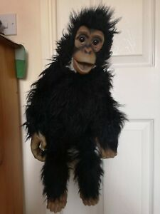 """REALISTIC  CHIMPANZEE MONKEY VENTRILOQUIST HAND PUPPET SOFT TOY - 24"""" APPROX."""