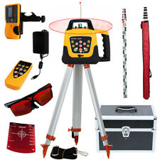 500m Self Leveling Red Laser Level 360 Rotating Rotary With Tripod Staff