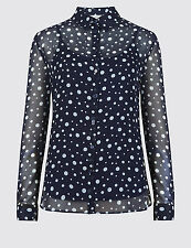 Marks and Spencer Spotted Casual Blouse Women's Tops & Shirts