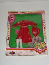 "Vintage Candy Candy doll Fashion, Red ""leather"" Dress - Polistil MIB"