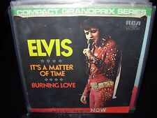 """ELVIS PRESLEY it's matter of time / burning love ( rock ) 7""""/45 picture sleeve"""