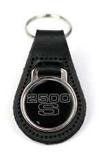 Triumph 2500 S Logo Quality Black Leather Keyring