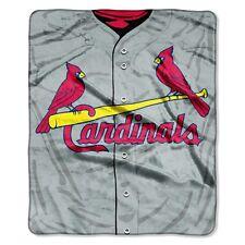 St Louis Cardinals 50x60 Plush Raschel Throw Blanket - Jersey Design [NEW] MLB