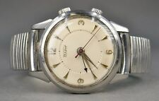 Fine Vtg 1957 Art Deco Tissot & Fils 17 Jewels Mens Wristwatch Watch W/ Alarm