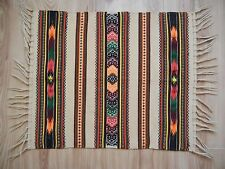 Vintage Hutsul Traditional Woven RUG Carpet 64x53.5сm UKRAINE GALICIA Hand made