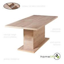 Table à manger extensible rallonge à manger rectangulaire blanc 160-200x90cm ...