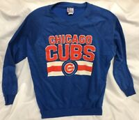 VTG 80s CHICAGO CUBS Sweatshirt Mens XL Garan MLB Baseball 50/50 Puffy Letters