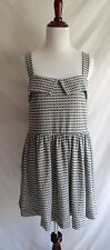 Free People Beach M Jumper Gray Checkered Peek A Boo Mini Dress Swim Cover Up