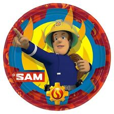 8pk Fireman Sam Paper Plates 23cm Childrens Birthday Party Tableware