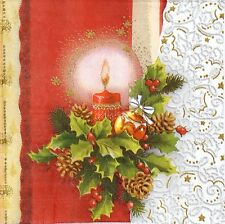 4 Single Party Paper Napkins for Decoupage Decopatch Craft Christmas Decoration