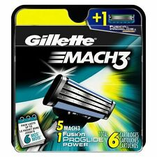 Gillete Mach 3 Razor Replacement Cartridges 5 Count 1 FREE 6 TOTAL CARTRIDGES