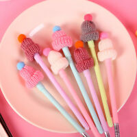 2Pcs Creative Gel Pen Wool Hat Pens Candy Color Student Stationery Gift for Kids