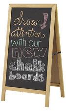 """Wooden A-Frame Chalkboard Sign 23 ½ 42 ½"""" Indoor Outdoor Magnetic Chalk Eraser"""