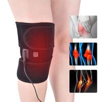Knee Heated Pad Therapy Wrap Anti Cramp Arthritis Heating Brace Pain Relief Belt