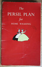 The Persil Plan for Home Washing 1950's 33pp