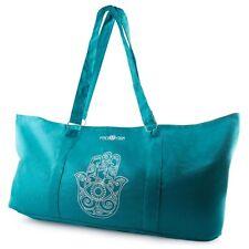 Yoga Mat Carrier Tote Bag With Adjustable Straps - Blue