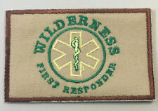 "WILDERNESS FIRST RESPONDER PATCH (TAN)   Hook and Loop Back 3.5""X2'."