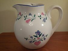 Vintage ~ Ice Lip PITCHER w/Hearts & Flowers R.B. BERNARDA Portugal Hand Painted