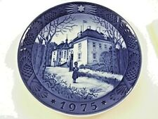 "Royal Copenhagen Denmark Blue Plate 1975 ""The Queens Christmas Residence"""