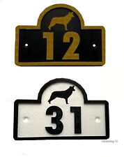 Border Collie House Door Number Plaque -Garden Gate Dog Sign (0 to 9999)
