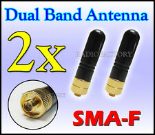 2x Dual Band Antenna SMA-F for tg-uv2 kg-uvd1p v-1000 Wouxun