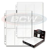 10 sheets 6 pocket BCW Pages 2 1/2 X 5 1/2 Binder Card Ultra Storage PRO