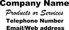 Custom Personalised sign -Van side/Rear Window Sticker Advertising Decal 60x30cm