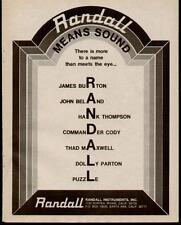 1975 PARTIAL NAMED LIST OF OF USERS RANDALL AMP AD
