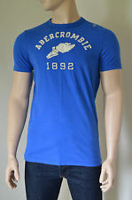 NUOVO ABERCROMBIE & FITCH CANTINA Mountain Blu Track & Field t-shirt XXL
