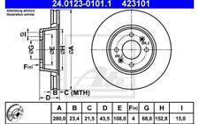 ATE Juego de 2 discos freno 280mm ventilado Para SAAB 900 9000 24.0123-0101.1
