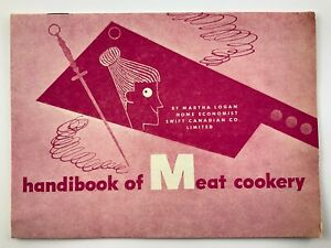 Handibook Meat Cookery Martha Logan 1960s Mid Century Modern Recipe Book V714