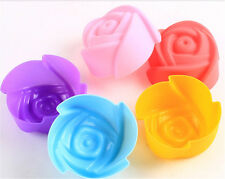Hot 5pcs Rose Muffin Cookie Cup Cake Baking Chocolate Jelly Maker Mold Mould New