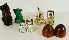 Vintage Lot of Salt and Pepper Shakers Japan Dogs Cats Rocking Chair Bee Hive