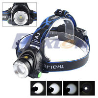 20000LM Zoomable XML XM-L T6 LED 18650 Bike Bicycle Belt Clip HeadLamp HeadLight