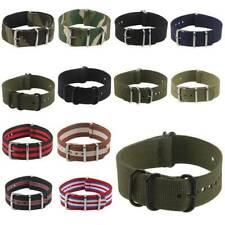 Ballistic Military Nylon Wrist Watch Band Strap Fabric Buckle Durable 20mm/22mm
