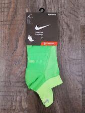 Nike Elite Lightweight Running Socks SX4952-380 Volt Men 6-7.5 Women 7.5 - 9