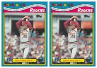 (2) 1988 Topps Toys R' Us Rookies Baseball 15 Joe Magrane Lot Cardinals