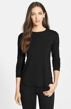 Excellent Condition Eileen Fisher Jersey Round Neck Long Sleeve Tunic- Black M