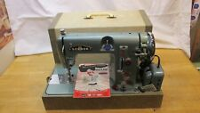 Excellent Vintage 1956 Sewmor 606 Portable Sewing Machine w/ Case & Manual