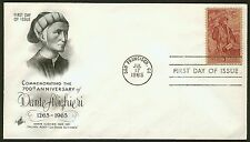 #1268 5c Dante, Art Craft-Addressed FDC **ANY 4=FREE SHIPPING**