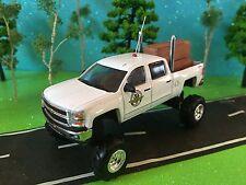 1/64 Custom G5 Lift Kit, Chevrolet Silverado, quad cab, Dual Pipes, CB Antenna