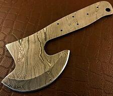 More details for handmade damascus steel hatchet blank-axe blank-heat treated-hb12
