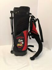 Mickey Mouse Golf Bag Kids 3 Compartments & Stand Red & Black
