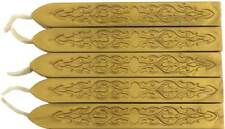 Gold Sealing Wax (with wick) - 5 Sticks