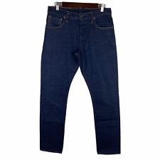 Left Field NYC Charles Atlas Denim Jeans Xinjiang Cotton Dark Blue Wash 32x32