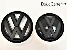VW GOLF MK6/MK VI MATT BLACK BADGE/EMBLEM/LOGO FOR BONNET AND BOOT OEM FITMENT